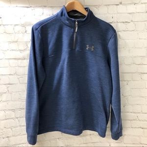 Under Armor Blue 1/4 Zip Pullover Size Large